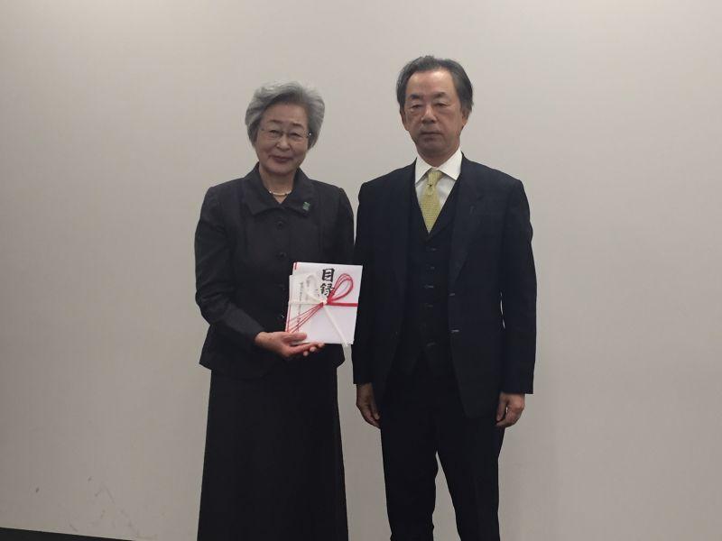南野利久代表取締役社長と剱持副理事長